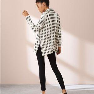 Lou & Grey Striped Signaturesoft Cowl Top Size L